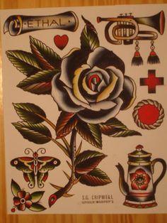 Stuart G Cripwell Tattoo Flash | KYSA #ink #tattooflash #tattoo