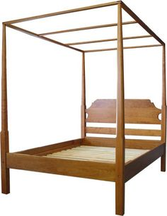Cherry Pencil Post Canopy Bed - King