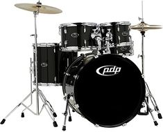 PDP CENTERstage 5Piece Drum Set with Hardware and Cymbals Onyx -- Want additional info? Click on the image. #miami