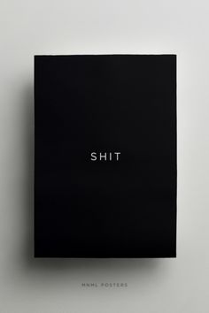 mnmlposters.com/ Shit #typography #poster #minimal