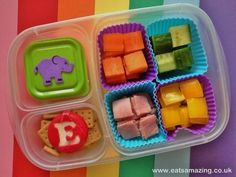 Elmer the Patchwork Elephant themed lunch - by Eats Amazing #MyElmer