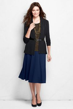 Women's Knit Matte Jersey Skirt from Lands' End