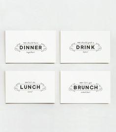 business card + invitation