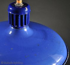 Abolite - Cobalt   Early vintage, pleasing 'shallow-bowl' form, and stunning color make this antique light fixture a true classic. 'Maybe we'll just keep this one . . . Maybe.'