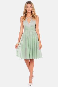 Blaque Label Dress - Sage Green Dress - Midi Dress - $165.00