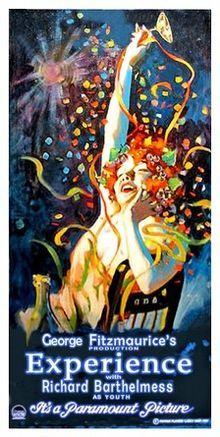 Experience. Richard Barthelmess, Lilyan Tashman, Reginald Denny, Marjorie Daw. Directed by George Fitzmaurice. Paramount. 1921