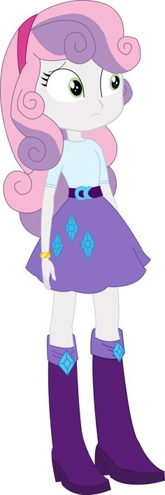 Equestria Girls Sweetie Belle (Rarity's clothes) by JustinKWork on deviantART