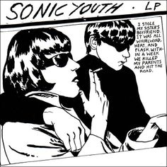 Sonic Youth: 'Goo' - Sonic Youth have to had some bloody ace album covers, so it's actually quite hard to choose, but this one is almost too cool for school. It's one album that you can judge by its cover. Greatest Album Covers, Cool Album Covers, Music Covers, Lp Cover, Vinyl Cover, Cover Art, Lp Vinyl, Vinyl Records, The Velvet Underground