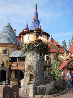 Rapunzel's tower in Disney world!