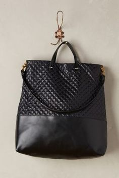 Clare V Quilted Shopper Tote