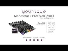 Moodstruck Precision Eye and Lip Pencils from Younique Products are cry proof, kiss proof, and have excellent color payoff. Watch as Melanie Huscroft, Younique Cofounder, shows you the smooth glide-on application and explains details of how you can purchase the liners individually or in sets. To purchase your own eye and lip pencils, contact a Younique Presenter or go to www.youniqueproducts.com to find a Presenter.