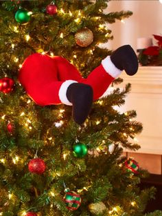Large Santa Claus Ornament for Christmas Tree Legs Big Stuffed Funny Decor Idea Christmas Tree Legs, Christmas Angel Crafts, Santa Claus Christmas Tree, Christmas Ribbon, Christmas Costumes, Holiday Tree, Christmas Projects, Christmas Crafts, Holiday Decor