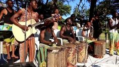 Dar Creators Traditional ngoima troupe in action at Ledger Plaza Bahari ...