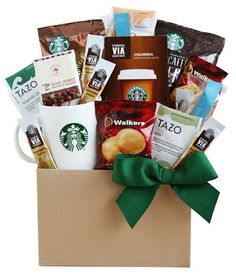 Starbucks Thanksgiving Coffee and Tea Lovers Gift Basket... sweepstakes IFTTT reddit giveaways freebies contests