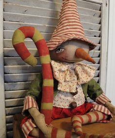 Christmas Folk Art Dolls   Handmade Art Fair: Primitive Folk Art Snowman…                                                                                                                                                                                 More