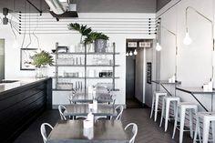 Gastronomie et design // Ginger & Fig – monochromie et style industriel – DecouvrirDesign