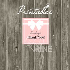 Printable Tiffany & Co. Inspired Thank You Tags  by LovinglyMine, $5.00