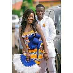 Beautiful Photography by Bride's outfit Groom's outfit African Wedding Attire, African Attire, African Dress, African Inspired Fashion, African Fashion Dresses, Island Style Clothing, African Traditional Wedding Dress, Kente Dress, Ghana Wedding