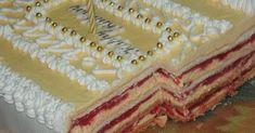 Kapri torta - Recepti na brzinu Brze Torte, Torte Recipe, Torte Cake, Croatian Recipes, Vanilla Cake, Food To Make, Deserts, Pie, Bread