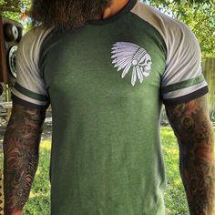 Chief color-block printed short-sleeved T-shirt – colorfultop T Shirt And Shorts, Printed Shorts, Men Shirt, Casual T Shirts, Cool Shirts, Casual Outfits, Skull Fashion, Mens Fashion, Textiles