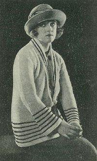 1920s knitting pattern
