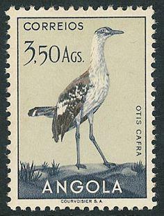 White-bellied Bustard (Eupodotis senegalensis) FRANCOBOLLI ANGOLA