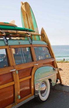 California Woodie & Surfboards Photograph by Diane Trimble Wavecrest Woodie Meet . You have to love pictures of classic woodies, and especially ones with surfboards. They remind me of living in a beach community in Southern Ca Vw Beach, Beach Bum, Wallpaper Praia, Vintage Surfing, Van Life, E Skate, Alana Blanchard, Summer Vibe, Woody Wagon