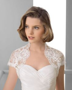 169 FREDERIK / Wedding Dresses / 2013 Collection / Alma Novia / Shown with cap sleeved Bolero (close up)