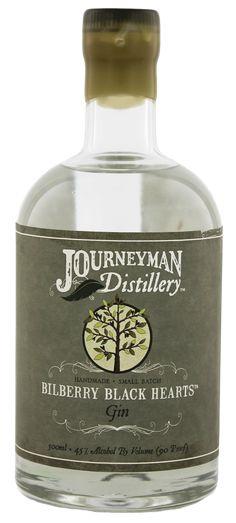 Bilberry Black Hearts Gin   Journeyman Distillery Three Oaks / Michigan
