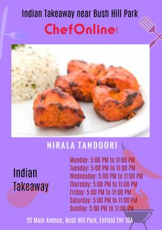 Nirala Tandoori offers delicious Indian Food in Bush Hill Park, Enfield Browse takeaway menu and place your order with ChefOnline. Order Takeaway, Indian Food Recipes, Ethnic Recipes, Hill Park, North London, A Table, Delivery, Restaurant, Fresh