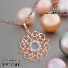 Design Of The Day........ Make Your Style With Our Rose Gold Collection......To See More Designs Of Rose Gold Jewelry. Visit:www.atjewel.com #Atjewel #Diamond #RoseGold #FlowralCollection #Stylish http://bit.ly/1pTlgZd