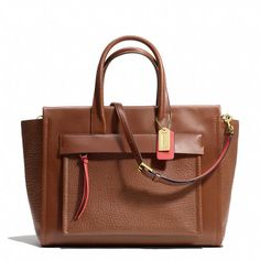 Coach Bleecker Riley Carryall In Two Tone Leather on shopstyle.com