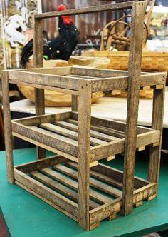 tobacco stick decor   Handmade Primitive Tobacco Stick Wooden 3-Tier Tray