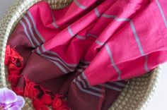 SUNSET PINK PESTEMAL Turkish Towels, Beach Towel, Hand Weaving, Pink, Color, Sunset, Travel, Colour, Voyage