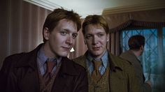 george and fred weasley | JAMES PHELPS as Fred Weasley and OLIVER PHELPS as George Weasley ...