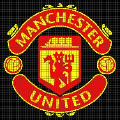 Manchester United (Graph AND Row-by-Row Written Crochet Instructions) – 01