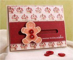 DIY Cards DIY Paper Craft : DIY Gingerbread Man Spinner Card Tutorial