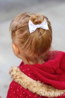Peinado con moño y trenza