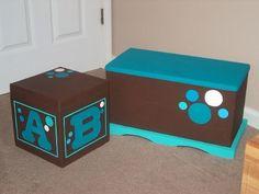 cajas de madera pintadas estilo country - Buscar con Google