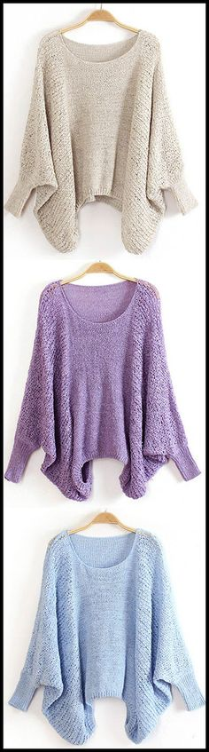 The Easy Day Sweater features bat sleeve and casual style. Happily bat sleeve style makes casual chic again in CUPSHE.COM !
