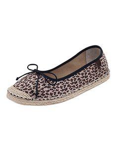Another great find on #zulily! Black & Brown Cheetah Espadrille Ballet Flat #zulilyfinds