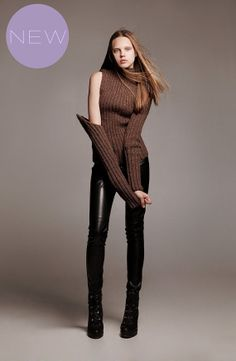 100 wool hand knit sweater chocolate brown mocha by AlisaDesign, $250.00
