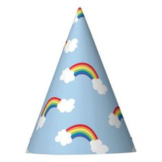 Whimsical Rainbow Birthday Party Hats