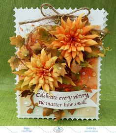 Celebration Treat Box with Susan's Garden Notes Dahlia Thanksgiving Cards, Christmas Cards, Handmade Birthday Cards, Handmade Cards, How To Make Paper Flowers, Elizabeth Craft Designs, How To Squeeze Lemons, New Green, Design Crafts