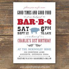 Summer BBQ Party Invites