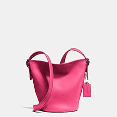MINI DUFFLE IN GLOVETANNED LEATHER Pink Crossbody Bag, Over The Shoulder  Bags, Designer Wallets 9b1c492396
