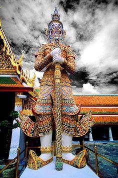 Bangkok, Thailand: A guardian figure at the Grand Palace, Bangkok, Thailand | Bangkok things to do