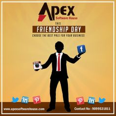 Apex Software House #HappyFriendshipDay#2019 A real friend is one who walks in when the rest of the world walks out. www.apexsoftwarehouse.com Mo : 9099531811 #BulkSMSService #BulkSMSProviderinBhavagar  #CheapestBulkSMSProvider #DigitalMarketingUsingBulkSMS #BulkSMSforBusiness #Bhavnagar#Gujarat#India Software House, Happy Friendship Day, Best Pal, Real Friends, Walks, India, Text Posts, Happy Friends Day, Goa India