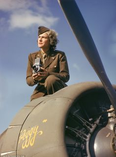 Trailblazer: American photographer and journalist Margaret Bourke-White was the countrys first accredited female photographer during WWII, and the first authorized to fly on a combat mission