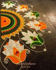 Free Hand Rangoli Design Ideas For Diwali image 3 Rangoli Designs Latest, Rangoli Designs Flower, Rangoli Border Designs, Latest Rangoli, Colorful Rangoli Designs, Rangoli Designs Diwali, Rangoli Designs Images, Kolam Rangoli, Flower Rangoli